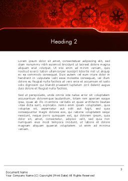 Inside Red Clock Word Template, Second Inner Page, 13236, Business Concepts — PoweredTemplate.com
