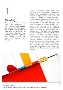 Darts Hitting Target Word Template, First Inner Page, 13238, Business Concepts — PoweredTemplate.com