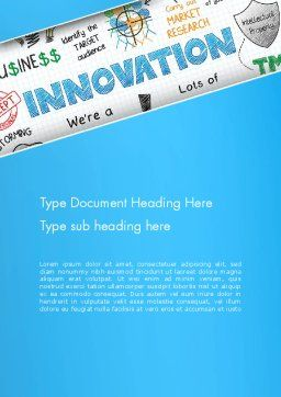 Innovation Sketch Word Template, Cover Page, 13239, Business Concepts — PoweredTemplate.com