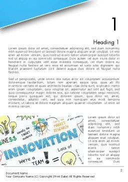 Innovation Sketch Word Template, First Inner Page, 13239, Business Concepts — PoweredTemplate.com