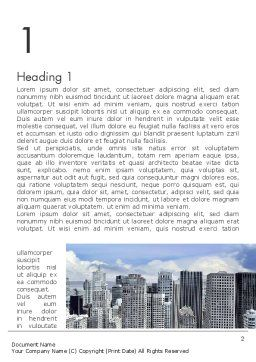 Business Skyscrapers Word Template, First Inner Page, 13242, Construction — PoweredTemplate.com