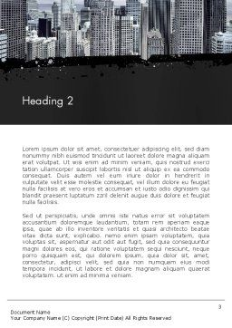 Business Skyscrapers Word Template, Second Inner Page, 13242, Construction — PoweredTemplate.com
