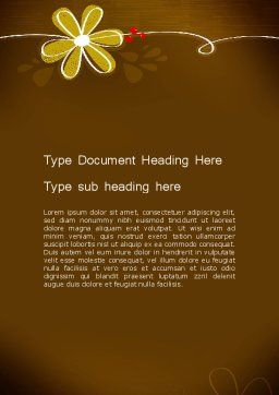Brown Floral Word Template Cover Page