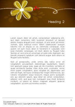 Brown Floral Word Template Second Inner Page