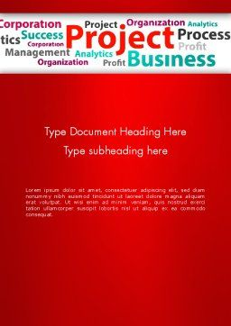 Project Word Cloud Word Template Cover Page