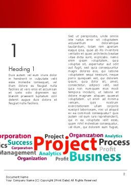 Project Word Cloud Word Template First Inner Page