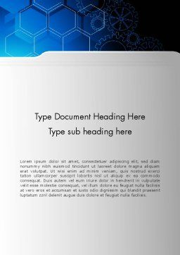 Inside Machine Abstract Word Template, Cover Page, 13249, Business — PoweredTemplate.com