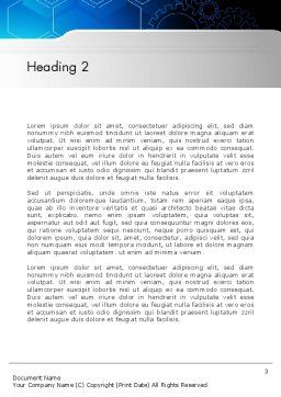 Inside Machine Abstract Word Template, Second Inner Page, 13249, Business — PoweredTemplate.com