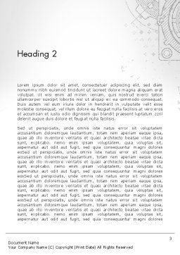 Machine Drawing Word Template, Second Inner Page, 13250, Utilities/Industrial — PoweredTemplate.com
