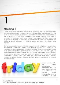 Friday Word Template, First Inner Page, 13252, Holiday/Special Occasion — PoweredTemplate.com