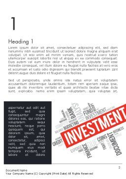 Investment Word Cloud Word Template, First Inner Page, 13253, Financial/Accounting — PoweredTemplate.com