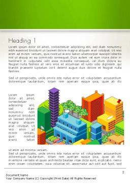 Isometric City Center Word Template, First Inner Page, 13256, Construction — PoweredTemplate.com