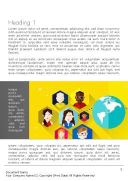 Faces Around the Globe Word Template, First Inner Page, 13257, Business Concepts — PoweredTemplate.com