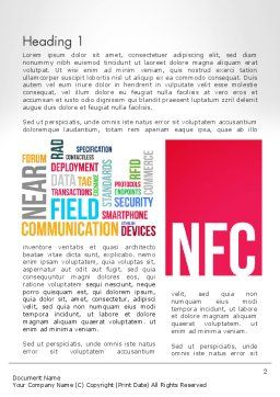 NFC Word Cloud Word Template, First Inner Page, 13258, Telecommunication — PoweredTemplate.com
