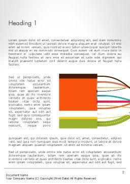 Spaghetti Process Word Template, First Inner Page, 13261, Business Concepts — PoweredTemplate.com