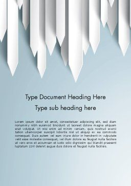 Paper Right Arrows Word template Cover Page