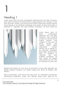 Paper Right Arrows Word template First Inner Page