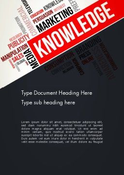 Knowledge Word Cloud Word Template, Cover Page, 13265, Education & Training — PoweredTemplate.com