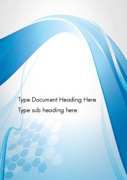 Soft Blue Wave Abstract Word Template 13266 | PoweredTemplate.com