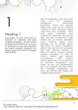 Abstract Avant Garde Word Template First Inner Page