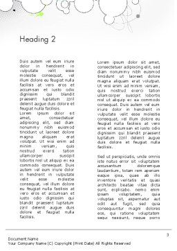 Abstract Avant Garde Word Template Second Inner Page