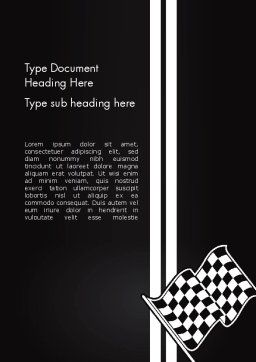 Racing Flag Word Template, Cover Page, 13271, Sports — PoweredTemplate.com