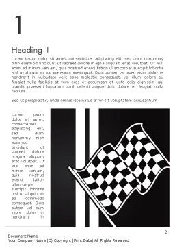 Racing Flag Word Template, First Inner Page, 13271, Sports — PoweredTemplate.com