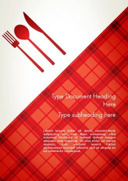 Tablecloth Decoration Illustration Word Template, Cover Page, 13273, Food & Beverage — PoweredTemplate.com