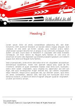 Looking To The Future Word Template, Second Inner Page, 13277, Business Concepts — PoweredTemplate.com