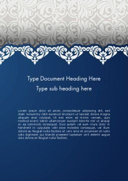 Ornate Word Template Cover Page