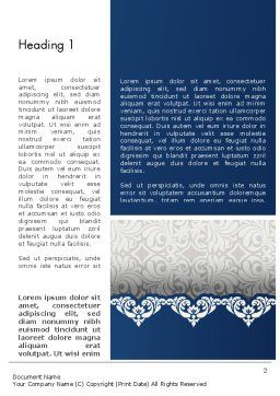 Ornate Word Template First Inner Page