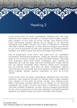Ornate Word Template Second Inner Page