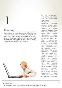 Small Baby with Laptop Word Template, First Inner Page, 13280, Education & Training — PoweredTemplate.com