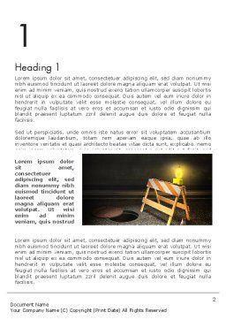 Street Under Construction Word Template, First Inner Page, 13281, Construction — PoweredTemplate.com