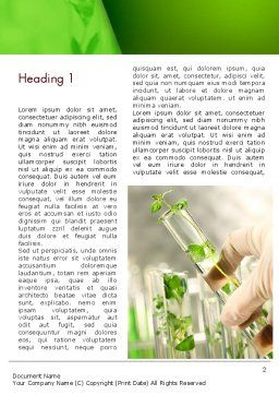 Genetically Modified Plants Word Template, First Inner Page, 13282, Agriculture and Animals — PoweredTemplate.com