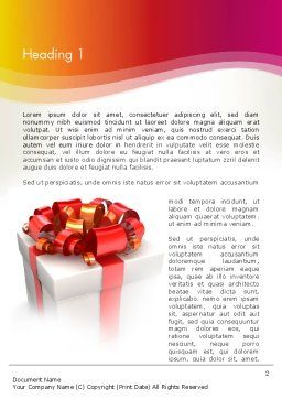 Gift Boxes with Red Bows Word Template, First Inner Page, 13284, Holiday/Special Occasion — PoweredTemplate.com