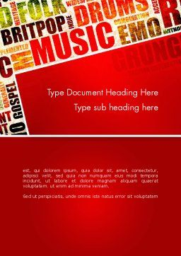 Music Word Cloud Word Template Cover Page