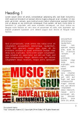 Music Word Cloud Word Template First Inner Page