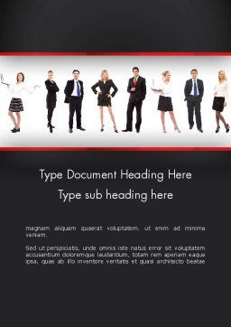 Recruit Word Template, Cover Page, 13287, People — PoweredTemplate.com