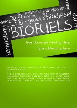 Bio Fuels Word Cloud Word Template, Cover Page, 13289, Nature & Environment — PoweredTemplate.com
