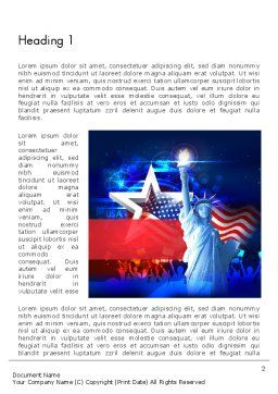 Statue Of Liberty With Fireworks Word Template, First Inner Page, 13291, Holiday/Special Occasion — PoweredTemplate.com