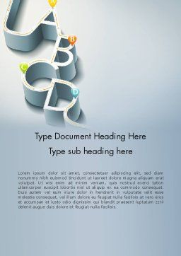 Abstract Road Infographic Word Template, Cover Page, 13294, Construction — PoweredTemplate.com
