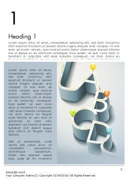 Abstract Road Infographic Word Template, First Inner Page, 13294, Construction — PoweredTemplate.com