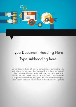 Application Tuning Word Template, Cover Page, 13295, Careers/Industry — PoweredTemplate.com