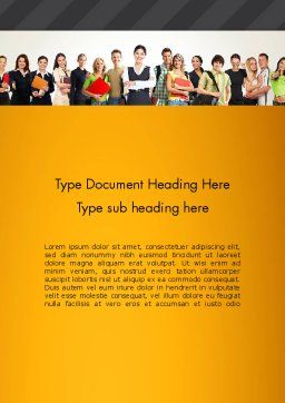 Recruitment Candidates Word Template, Cover Page, 13310, People — PoweredTemplate.com