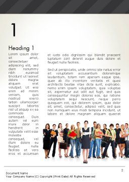 Recruitment Candidates Word Template, First Inner Page, 13310, People — PoweredTemplate.com