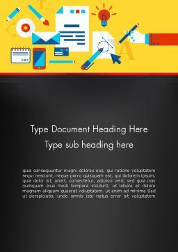Corporate Design Word Template Cover Page