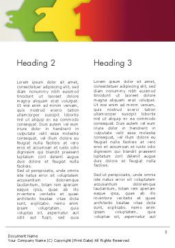 Three Objects Word Template, Second Inner Page, 13320, Education & Training — PoweredTemplate.com