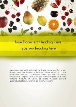 Alkaline Food Word Template, Cover Page, 13323, Food & Beverage — PoweredTemplate.com
