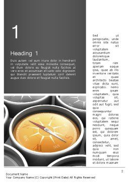 Grid with Clock Faces Word Template, First Inner Page, 13325, Business Concepts — PoweredTemplate.com
